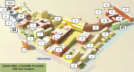 queen mary university of london campus map Queen Mary Mile End Campus Ica 2007 queen mary university of london campus map