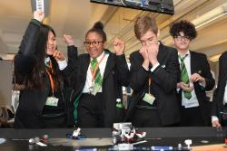 School students at the Tomorrows Engineers competition